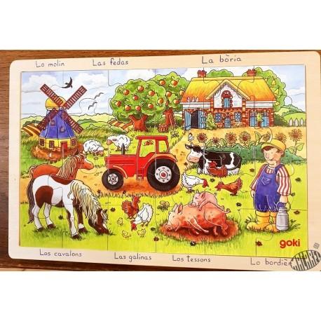 Puzzle bois 24 pièces La ferme des meuniers