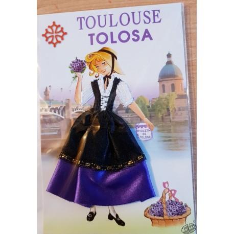 carte violettière tissu