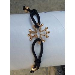 bracelet réglable croix occitane dorée