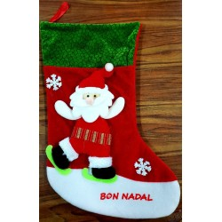 Botte tissu Noël grand modèle