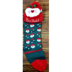 chaussette Bon Nadal (Joyeux Noël) 3 motifs
