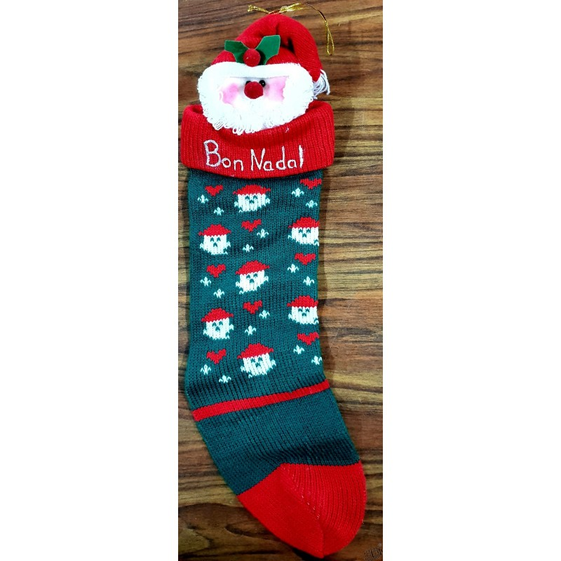 Chaussette Bon Nadal Joyeux Nol 3 Motifs