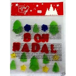 Bon Nadal lettres silicone repositionnables petit modèle