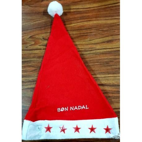 bonnet Père Noël Bon Nadal luxe 3 motifs