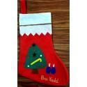 botte Bon Nadal feutrine motif sapin