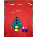 grande poche feutrine Bon Nadal (Joyeux Noël en occitan) 3 motifs