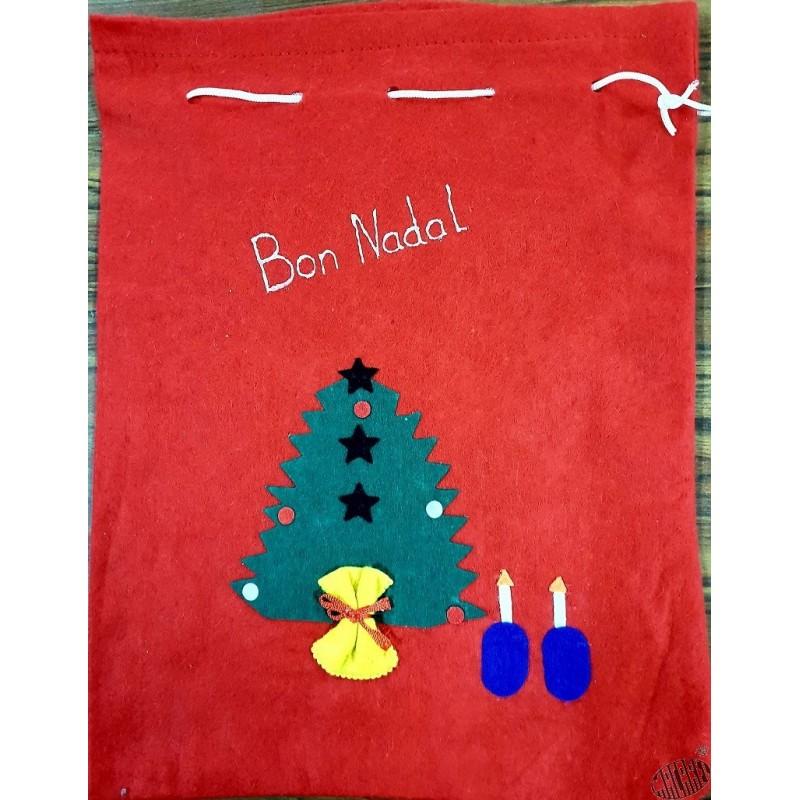 Grande Poche Feutrine Bon Nadal Joyeux Noël En Occitan 3 Motifs