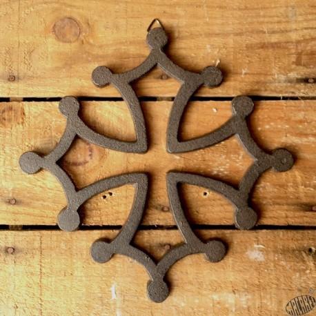 croix occitane fonte 12cm à suspendre