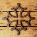 croix occitane en fonte 12cm à suspendre