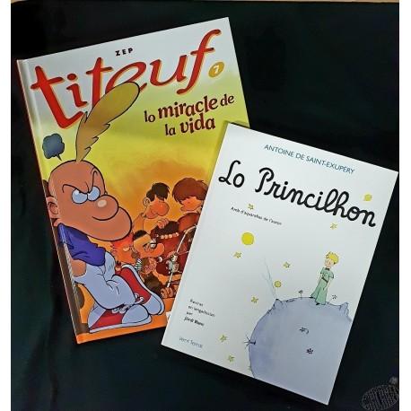 lot Lo Princilhon ( le Petit Prince en occitan) + Titeuf Lo sens de la vida