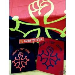 lot T-shirt Farem tot petar + drapeau farem tot petar + auto-collant FTP