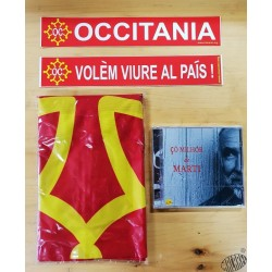 Lot CD Claude Marti +drapeau occitan + 2 auto-collants