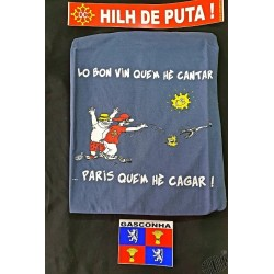 ensemble t-shirt Paris +  auto-collants Gascogne et Hilh de puta