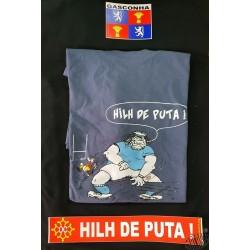 Lot gascon t-shirt Hilh de puta + auto-collants Gascogne et Hilh de puta
