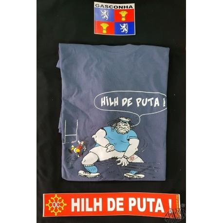 ensemble t-shirt Hilh de puta + auto-collants Gascogne et Hilh de puta