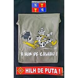 Lot  pour gascon T-shirt A hum de calhau + auto-collants Gascogne et Hilh de puta