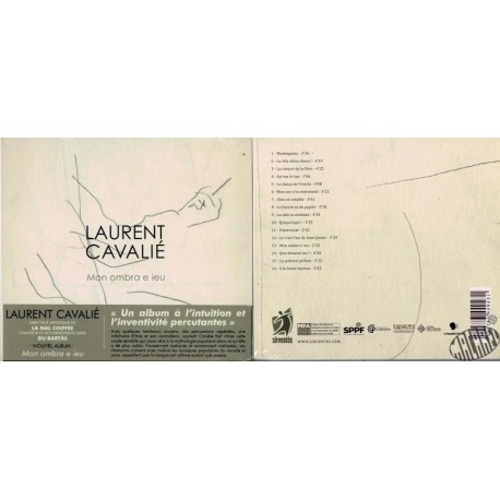"CD de Laurent Cavalié ""Mon ombra e ieu"""