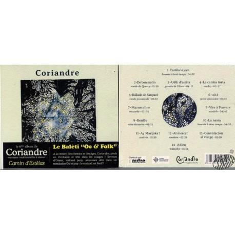 """CD Coriandre """" Camin d'estèlas"""""""