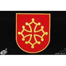 écusson à coudre ou à coller blason croix occitane