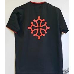 T-shirt enfant noir croix occitane ClassOc