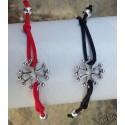 Bracelet réglable croix occitane métal argenté vieilli