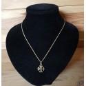 chaîne et pendentif croix occitane 1,5cm dorée