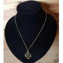 chaîne et pendentif croix occitane dorée 2,2cm
