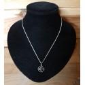 chaîne et pendentif croix occitane argentée 1,5cm