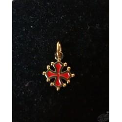 pendentif croix occitane sang et or 1,5cm