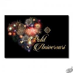 carte anniversaire en occitan avec feu d'artifice