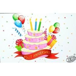 carte anniversaire Polit aniversari