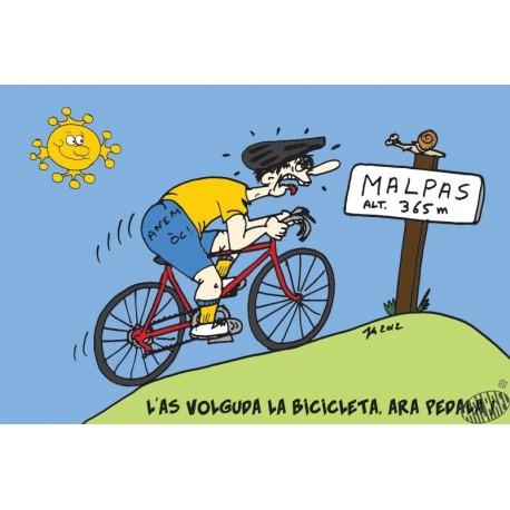 carte humour occitan Bicyclette
