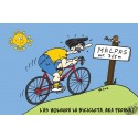 carte humour occitan Bicyclette