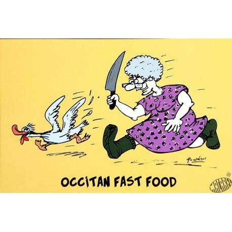 carte humour Occitan fast food