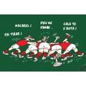 carte humour occitan thème rugby : La mêlée