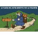 carte humour occitan Pélerin Compostelle