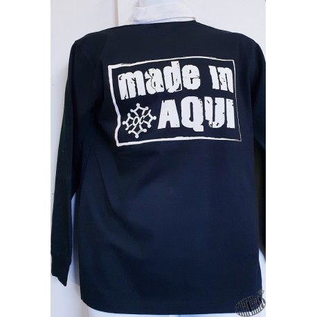 Polo rugby Made in aqui noir