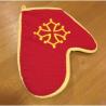 lot 6 gants cuisine brodés croix occitane