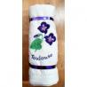 lot 6 essuie-mains carrés éponge broderie violettes de Toulouse