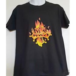 T-shirt Homme croix occitane flammes
