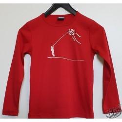 T-shirt Enfant manches longues Cerf-volant rouge