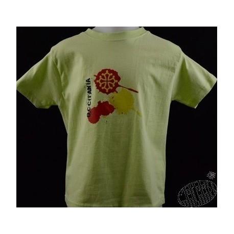 T-shirt enfant Decas ( en occitan : taches ) occitània croix occitane