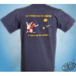 T-shirt Homme Lo solelh me fa cantar, Paris me fa cagar
