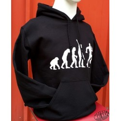 Sweat humoristique occitan Evolution rugby noir
