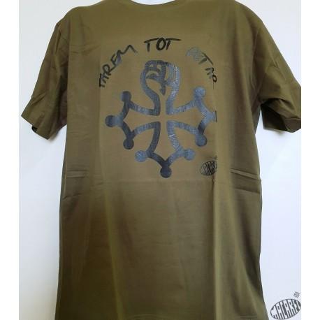 T-shirt Homme Farem tot petar kaki