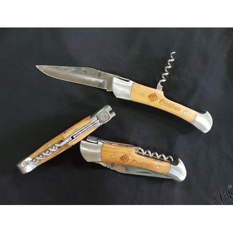 couteau tire-bouchon à la croix occitane