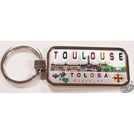 Porte-clés Toulouse Occitània brillant