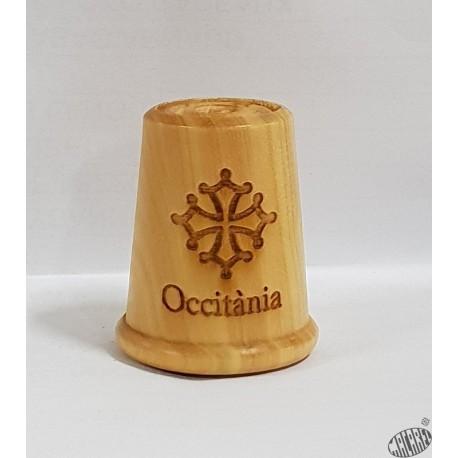 Dé à coudre en bois Croix occitane