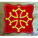 Dessous-de-plat-planche à découper-déco. murale croix occitane
