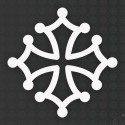 Sticker 50cm croix occitane
